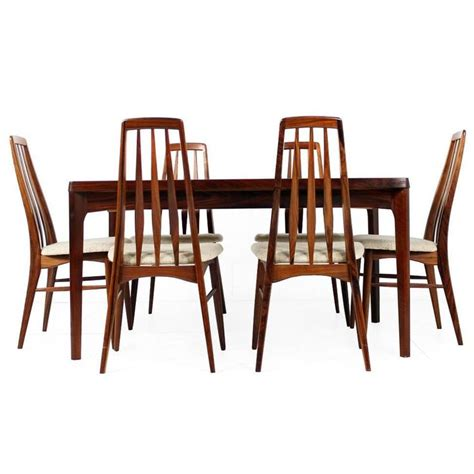 beautiful 1960s rosewood dining table chairs n