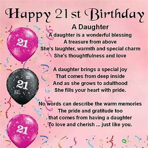 Happy 21st Birthday Inspirational Wishes for My Daughter ...
