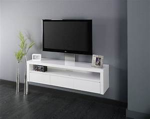 Console Murale Suspendue : simple meuble tv mural suspendu meuble tv m with console murale suspendue ~ Teatrodelosmanantiales.com Idées de Décoration