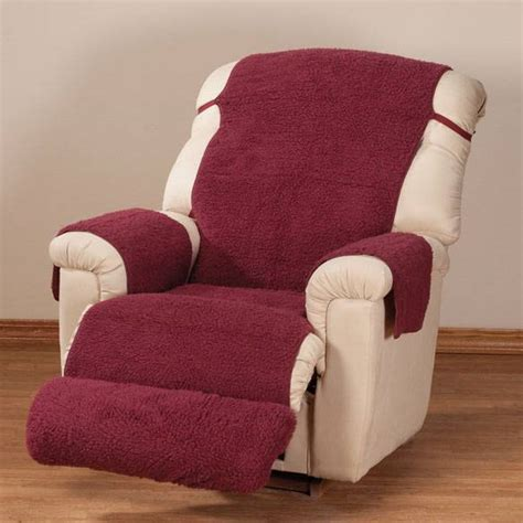 sherpa fleece recliner cover by oak ridge comforts ebay