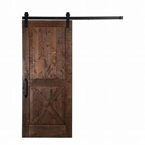 rustica hardware 36 in x 84 in stain glaze clear With 24 inch sliding barn door