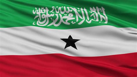 Somaliland (somalia) Flag Close Up Realistic Animation
