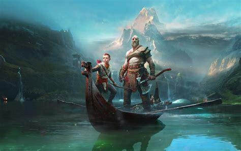 Andromeda Galaxy Wallpaper Hd Kratos Atreus In God Of War 1080p Wallpapers