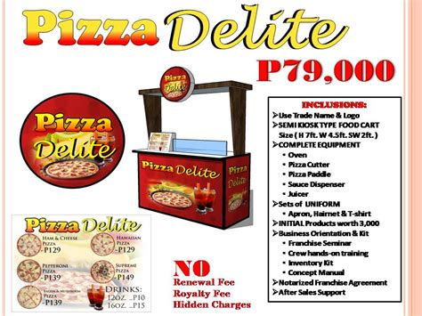 franchise cuisine pizza delight fab suffrage food cart franchise