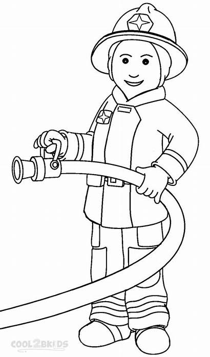 Fireman Coloring Pages Printable Cool2bkids