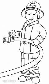 Fireman Coloring Pages Printable Cool2bkids sketch template