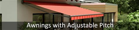 retractable awnings  adjustable pitch samson awnings