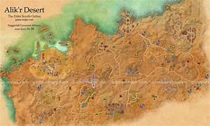 Alik'r Desert Map - The Elder Scrolls Online game-maps com