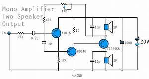 Mono Power Amplifier Using A1015  Bd140  Tip2955