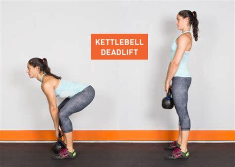 kettlebell exercises ass deadlift kettle bell exercise workouts workout kick fitness body deadlifts clean butt weights press greatist legs training