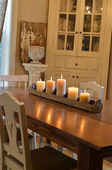 Dining Room Centerpiece Ideas Candles by Best 20 Dining Table Centerpieces Ideas On