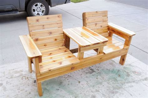 patio chair plans   build  double chair bench