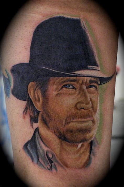 chuck norris tattoo chuck norris by john montgomery tattoonow