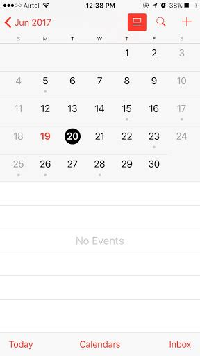 default calendar iphone objective c how to show default calendar in