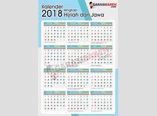 Template kalender 2018 lengkap Hijriyah dan jawa libur
