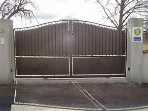 Portail Battant 5 Metres : portail fer forge 4 metres cloture aluminium noir maison infos ~ Nature-et-papiers.com Idées de Décoration