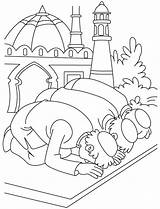 Coloring Islamic Pages Kaba Mosque Printable Getcolorings Colouring Famous Print Getdrawings sketch template