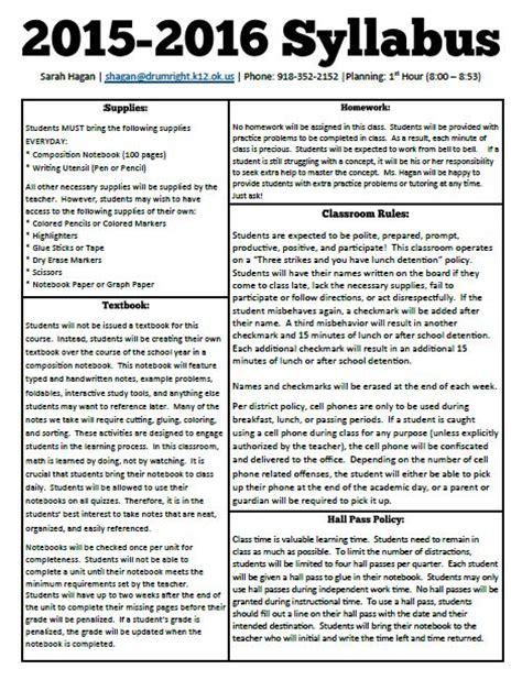 middle school syllabus template math new year new syllabus