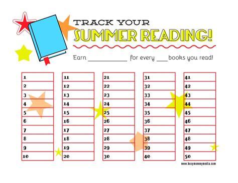 Free Printable Summer Reading Chart