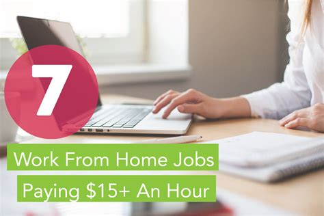 work  home jobs paying   hour