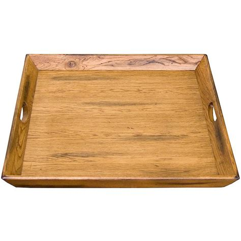extra large ottoman tray rustic oak slate collection rustic oakottoman tray