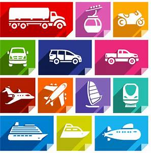 Vector transportation icons free vector download (20,422 ...