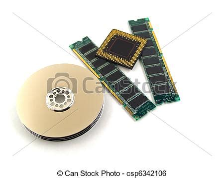 Computer Parts Such Circuit Boards Memory Chips Cpu