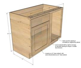 white build a 42 quot base blind corner cabinet momplex vanilla kitchen free and easy diy