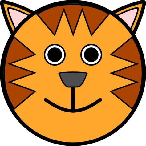 tiger face clip art  clkercom vector clip art