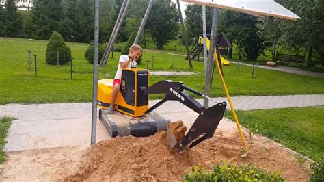volvo kids mini digger excavator volvo bernu elektriskais