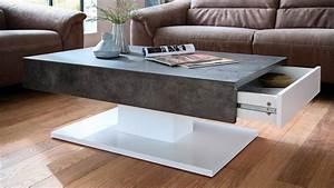 Couchtisch Weiß Matt : couchtisch lania beistelltisch beton grau und wei matt lack ~ Orissabook.com Haus und Dekorationen