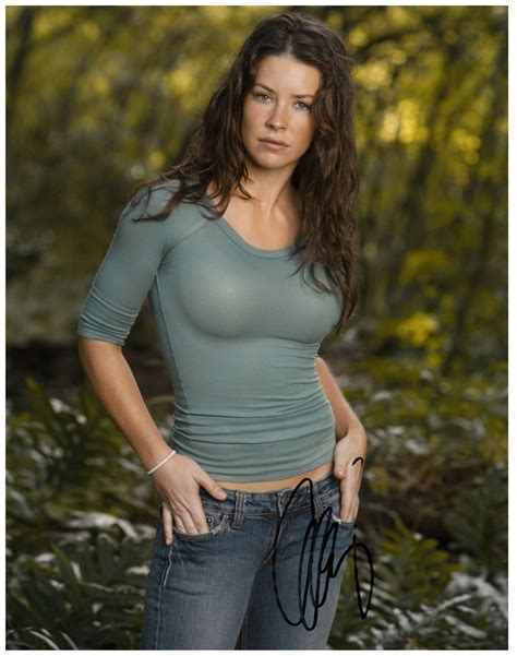 Evangeline Lilly Signed Lost Katherine Kate Austen Photo With Images Nicole Evangeline