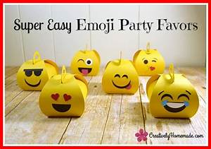 Emoji Birthday Favors for Kids - Creatively Homemade