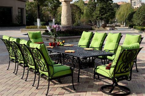 patio furniture dining set cast aluminum 92 120 quot extension