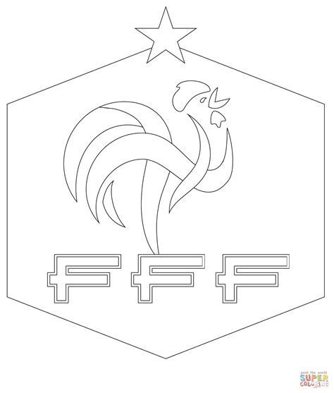 Kleurplaat Logo Frankrijk by Coloriage Logo De La F 233 D 233 Ration Fran 231 Aise De Football