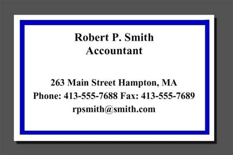 facts      business card