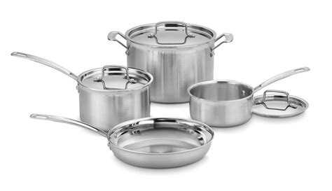 cookware cuisinart stainless steel multiclad piece pro mcp 7n induction sets steamer gas amazon insert stoves glass under money worth