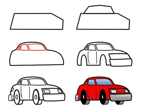 vector illustration cartoon white background auto