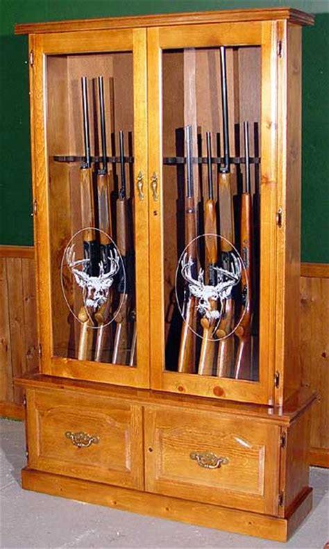 wood  gun cabinet blueprints  woodworking