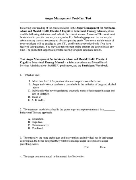 anger management certificate  fill  printable