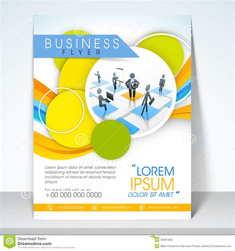 one page flyer template business flyer banner or template stock photo image