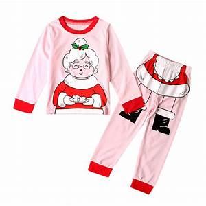 Autumn Kids Toddler Baby Girls Christmas Grandma Tops T-Shirt+Pants Outfits Suit Cartoon Print ...