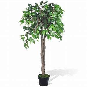vidaXL co uk Artificial Plant Ficus Tree with Pot 110 cm