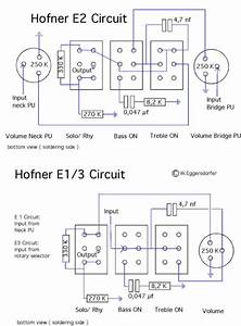 Hofner Standard E2 Schematic Diagram