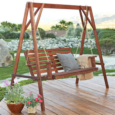 belham living richmond straight  porch swing stand