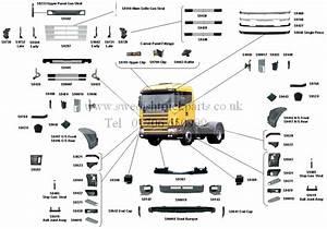 Scania Cab Body Parts R Cab R94 R114 R124 R144 R164 Grille