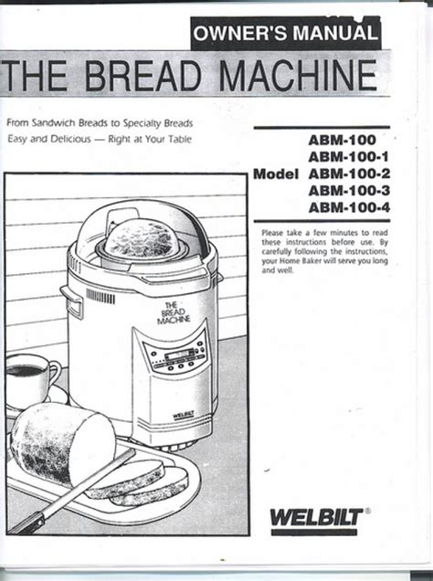 Check spelling or type a new query. Welbilt Dak ABM100-1 Bread Machine Manual & Recipes | Bread machine, Bread machine recipes ...