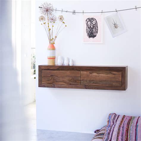 armoire murale chambre console suspendue en palissandre massif pas cher tikamoon