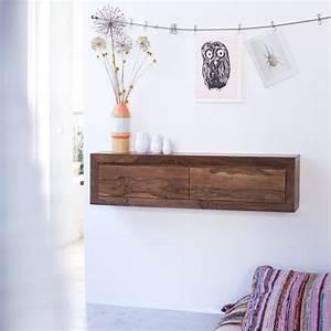 Console Murale Suspendue : console suspendue en palissandre massif pas cher tikamoon ~ Premium-room.com Idées de Décoration