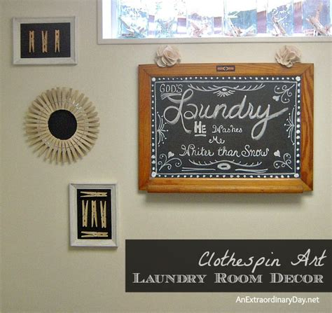 Laundry Room Decor  Clothespin Art For The Makeover An